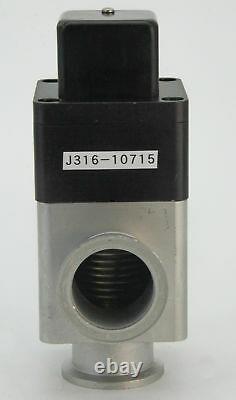 10715 Varian Nw-40-a/o Pneumatic Angle Vacuum Valve Block L6282-303