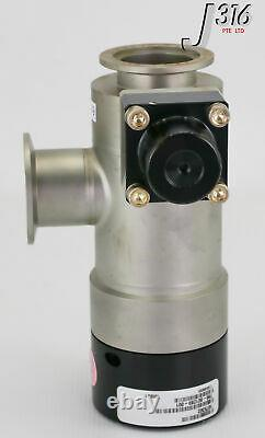 13699 LAM RESEARCH MKS ANGLE VACUUM VALVE With LIMIT SWITCH (PARTS) 796-801289-001