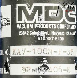 13841 MDC Angle Vacuum Valve Kav-100m-p-sp