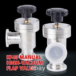 1 Pcs High-Vacuum Manual KF40 to KF40 Angle Valve Pump Flange Vacuum Isolation