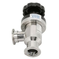 1pc KF25 High Vacuum Manual Right Angle Bellow Valve for Vacuum Isolation 304