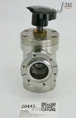 20441 MDC Vacuum Angle Valve, Amat Pn 3870-01352 996035