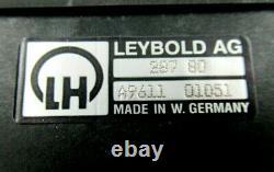 298 23 / Angle Vacuum Valve, 287 80 / Leybold