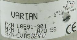 9614 Varian Right Angle Manual Vacuum Valve L6591-301