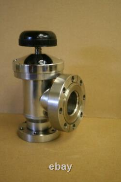 Conflat CF, Manual Valve, Right Angle, Step Down DN40 to DN50 Perkin Elmer