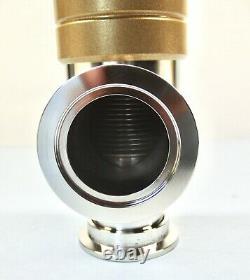 Huntington NW 40 KF 40 Right Angle Manual Vacuum Valve Stainless New Surplus