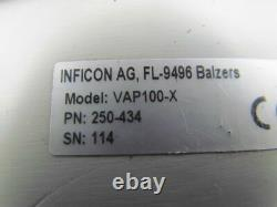 Inficon VAP100X 250-434 Vacuum Right Angle Valve Pneumatic Actuated WithIndicator