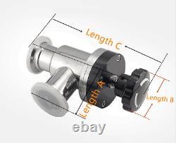 KF16 KF25 KF40 KF50 NW Manual Right Angle Y-Shaped Valve Vacuum Flange Fitting