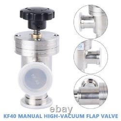 KF40 to KF40 Right Angle L Valve Vacuum manual flange clamp Fitting Manual US