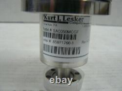 Kurt J Lesker Manual Bellows Sealed Ss Angled Valve Sa0050mccf
