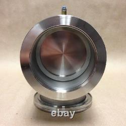 Kurt Lesker SA0400PVIK Pneumatic Bellows Sealed SS Angle Valves ISO flanged