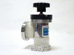 Lesker Sa0150mvcf Right Angle Vacuum Valve 2.75, Del-seal Cf Flange 304 Ss Used