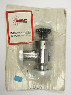 MDC 2.75 Conflat right angle manual high vacuum valve stainless