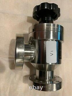 MDC Angle Manual Vacuum Valve AV-150M 2.75 1.50 OD Conflat DN40 CF UHV 312029 V1