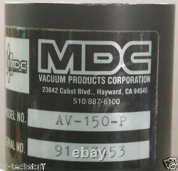 MDC Ultra High Vacuum Pneumatic Angle Valve AV-150-P