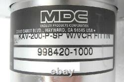 MDC Vacuum Products 998420-1000 Angle Valve KAV-200-P-SP AMAT Centura Working