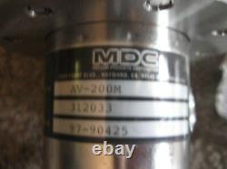 MDC Varian Gate Angle Valve Vacuum with Collars Tubes Chamber-Box # AV-200M 2