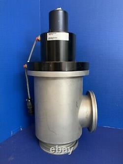MKS HPS 100931764 Angle Vacuum Valve, 4 Tube ISO-100, Limit Switch, Used