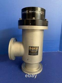 MKS HPS 152-0063P Bellows Sealed Vacuum Valve, Right Angle, 2.5, ISO-63, Used