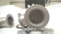MKS / HPS KF50 angle valve, short stem, 99-3347, with elbow, clamp, ring