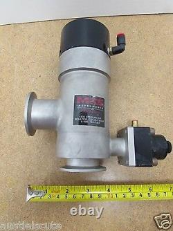 MKS HPS L2-40-AK-225-VNVNH High Vacuum Pneumatic Bellows Isolation Angle Valve