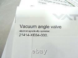 New VAT 21414-EX64-000 Electromagnetically Operated Vacuum Angle Valve Kit