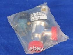 Nor-Cal ESVP-1002-NWB-S21 1 right angle vacuum valve with pneumatic actuator