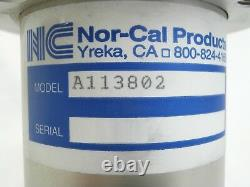 Nor-Cal Products A113802 Manual Angle Isolation Valve Used Working