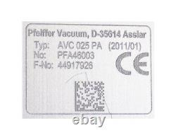 PFEIFFER VACUUM AVC 025 PA PFA46003 Angle Valve