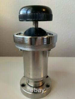 Perkin Elmer Vacuum Valve, Right Angle, SS, Bellows, 2.75 CF, Manual