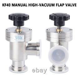 Right Angle L Valve KF40 to KF40 Vacuum Manual Flange Clamp Fitting Bellow Valve