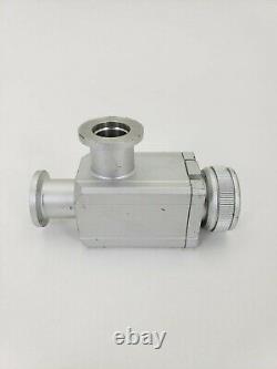 SMC 3080-000595-V1 Aluminum High Vacuum Angle Valve XLH-16-X670 Used