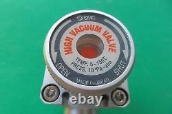 SMC XLH-25 High Vacuum Angle Valve, USED