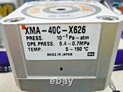 SMC XMA-40C-X626 Right Angle High Vacuum Valve + SMC D-M9B High Flex Reed Switch