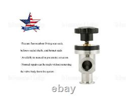 USA KF25 Vacuum Manual Right Angle Bellow Flapper Valve for Vacuum Isolation