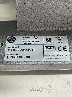 VARIAN TRISCROLL PUMP PTS03001UVPI, WithVARIAN ISOLATION VALVE & ANGLE BELLOWS