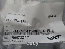 VAT 24428-KA11-0001/0038 Vacuum Angle Valve, Inline, PN81766, 895722/7, 408706