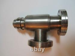 Varian 951-5027 All-Metal Manual Right-Angle Valve (bakeable to 450 C)