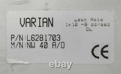 Varian L6281-703 Pneumatic Angle Valve NW-40-A/O Reseller Lot of 3 Working